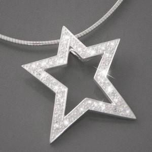 Anhänger Silber Stern Zirkonia