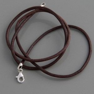 Lederkette braun, 3mm, Länge 38cm bis 90cm