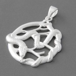 Silber-Anhänger Schlange