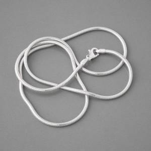 Schlangenkette Silber, rhodiniert, 1,9 mm, Länge 40cm bis 60cm