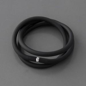 Schlauchkette schwarz, 4mm, Länge 38cm bis 60cm