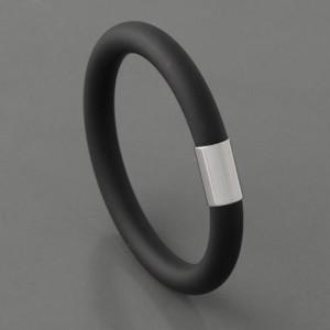 Schlauch Armband, schwarz, 19cm bis 21cm