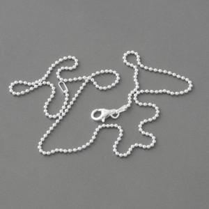 Kugelkette Silber, 40-80cm