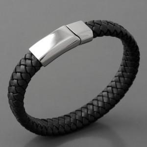 Lederarmband Leder Bandito, schwarz, Länge 21cm