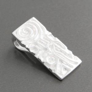 Silber-Anhänger rechteckig