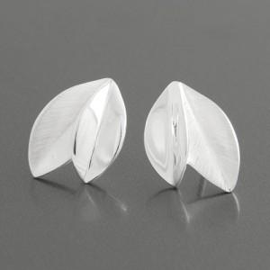 Silber-Ohrstecker Blatt