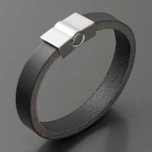 Armband Leder, schwarz, Länge 19 cm bis 21 cm
