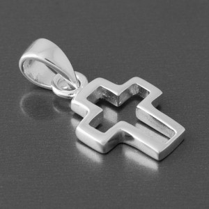 Kreuz Anhänger Silber Sirius