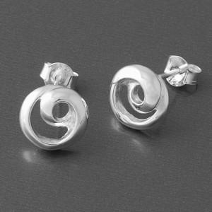 Ohrstecker Silber rund Spirale