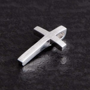 Kreuzanhänger klein Silber matt Jakobus