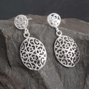 Ohrhänger Silber Ornament