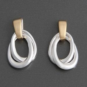 Bi-Color Ohrringe Silber-Gold