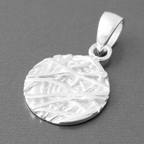Kettenanhänger silber  Anhänger Silber rund aus 925 Sterling Silber   edelwert.de