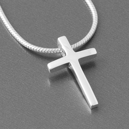 Kreuz anhänger silber  Moderner Kreuzanhänger aus 925 Sterlingsilber mit eingepasster Öse