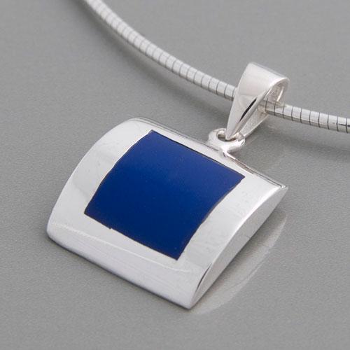 Lapis Lazuli Anhänger 925 Sterlingsilber Kettenanhänger Medaillon blau 98-06