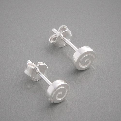 Silberschmuck ohrstecker  Stilvolle Ohrstecker aus 925 Sterling Silber im Spiral-Design
