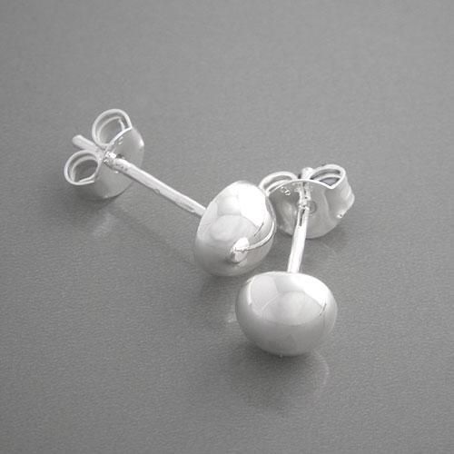 Ohrstecker silber  Ohrstecker Halbkugel 925 Silber | Ohrringe günstig bei edelwert