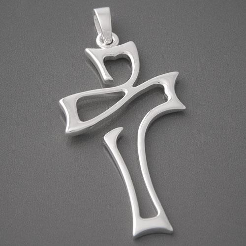 Kreuz anhänger silber  Großer Kreuzanhänger aus 925 Silber | Modernes Design