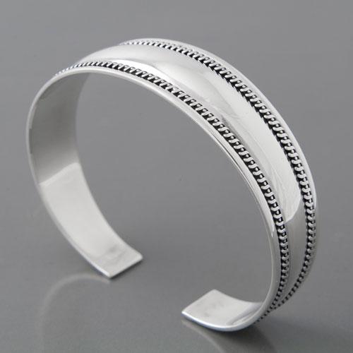 Armreif silber  Silber Armreif aus 925 Sterlingsilber massiv und robust verarbeitet