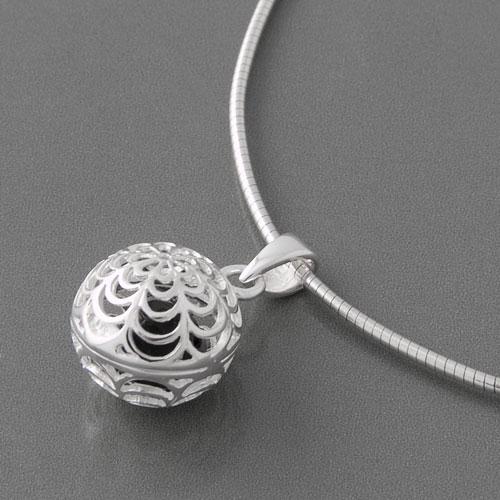 Silberanhänger Kugel Onyx Juni