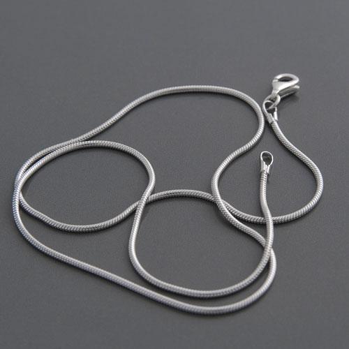 Schlangenkette  Silber Schlangenkette rhodiniert Länge 40 bis 60cm | günstig kaufen