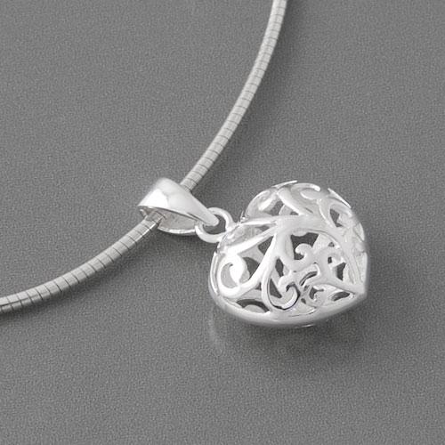 Herzanhänger  Anhänger Silber Herz aus 925 Sterling Silber | edelwert.de