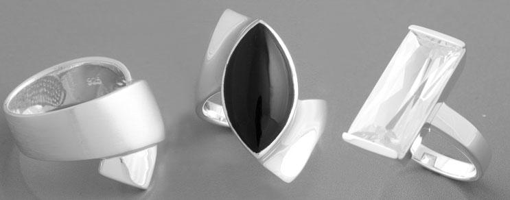 silberringe mit onyx zirkonia perle oder gold. Black Bedroom Furniture Sets. Home Design Ideas