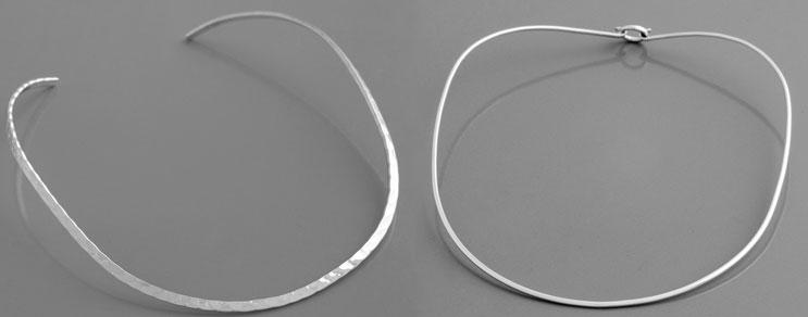 Silber-Halsreifen